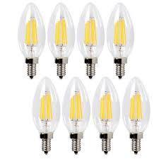 best led filament bulb c35 6w candelabra led light bulb e12 base