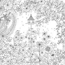 Secret Garden An Inky Treasure Hunt And Coloring Book Johanna