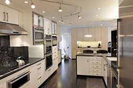 dimmable track heads with cabinet lighting kitchen