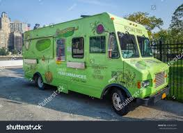 100 Green Food Truck Katchke Fast Vegetables Stock Photo Edit