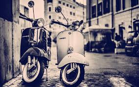 Vintage Vespa Wallpaper