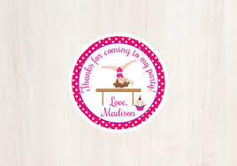 Cupcakes And Cartwheels Favor Tag Gymnastics Party Birthday Girls
