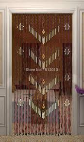 Natural Bamboo Beaded Door Curtain by Beaded Curtain Double Doors Decorate The House With Beautiful