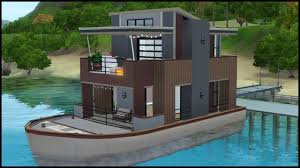 100 Boathouse Designs The Sims 3 House Building Serenity Houseboat YouTube
