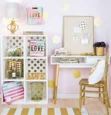 From Hobby Lobby Inspiration Starts With Your Workspace Glam It Up Pops Of Gold And Vibrant Watercolor