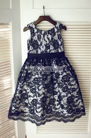 black lace wedding flower dress with silver gray lining