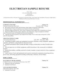 Sample Resume For Electrician And Get Inspiration To Create A Good 2