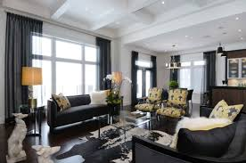 dramatic designs black and white home decor black living room