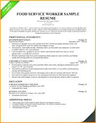 Resume Examples For Students With No Work Experience Luxury Without Objective From Food Service Resumes