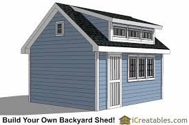 Shed Dormer Plans by 12x16 Shed Plans With Dormer Icreatables