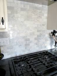 Groutless Subway Tile Backsplash by Carrara Marble Subway Tile Lowes Roselawnlutheran