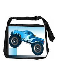 100 Kids Monster Trucks Boys Backpack Design Messenger Bag For School