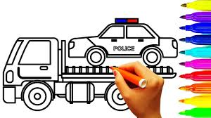 Police Car And Dump Truck Coloring Pages, Vehicles Coloring Book ... Dump Truck Coloring Pages Getcoloringpagescom Garbage Free453541 Page Best Coloringe Free Fresh Design Printable Sheet Simple Coloring Page For Kids Transportation Book Awesome Truck Pages Colors Trash Video For Kids Transportation Within High Quality Image Trash With Fine How To Draw A Download Clip Art Luxury