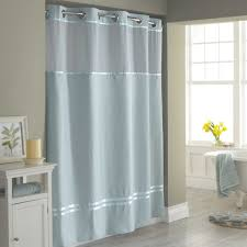 Bed Bath And Beyond Curtain Rods by Hookless Escape Fabric Shower Curtain And Shower Curtain Liner