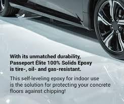 100 Solids Epoxy Floor Coating by Passeport élite Epoxy For Your Concrete Floors