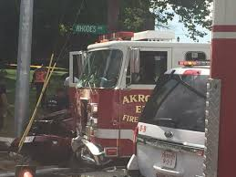 100 Fire Truck Accident Bad Accident At Rhodes And Exchange In Akron Fire Truck And Car