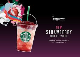 Starbucks 1 For Mango Or Strawberry Fruit Jelly Yogurt Frappuccino Rewards Members From 17 Aug 2016 Drink Review