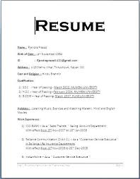 Simple Resume Formate Format Sample Singapore On For Job