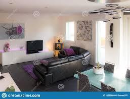 wohnzimmer mit modernen möbeln bestehend aus sofa