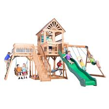 Playsets & Swing Sets - Parks, Playsets & Playhouses - The Home Depot Backyard Discovery Dayton All Cedar Playset65014com The Home Depot Woodridge Ii Playset6815com Big Cedarbrook Wood Gym Set Toysrus Swing Traditional Kids Playset 5 Playground And Shenandoah Playset65413com Grand Towers Allcedar Playsets Amazoncom Kings Peak Monterey Playset6012com Wooden Skyfort