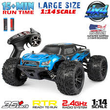 100 Radio For Trucks 114 Scale 24Ghz 4WD RC Monster Truck Remote Control Car Off Road Bugger