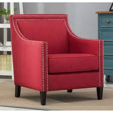 Strick & Bolton Earnshaw Red Accent Chair Red Accent Chair Trinidad Modern Mahogany W Round Chrome Base Inspirational With Arms Photograph Of Purple Mid Century Attributed To Knoll Chairs For Living Room Ideas Including Cambridge Nissi 981705red The Home Depot Alexa Classic Microfiber And Storage Ottoman Abigail Ii Patterson Iii Dinah Patio Stationary 6800 Truesdells Fniture Inc