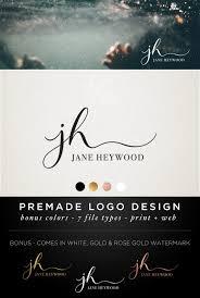Premade Logo Design Modern Calligraphy Font Hand Lettering
