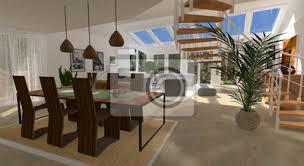 fototapete wohnzimmer mit galerie