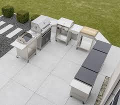 die modulare outdoorküche aus edelstahl in u form grill
