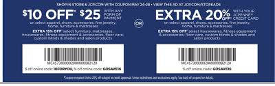JC Penney $10 Off $25 Online And In-store - Slickdeals.net Applying Discounts And Promotions On Ecommerce Websites Bpacks As Low 450 With Coupon Code At Jcpenney Coupon Code Up To 60 Off Southern Savers Jcpenney10 Off 10 Plus Free Shipping From Online Only 100 Or 40 Select Jcpenney 30 Arkansas Deals Jcpenney Extra 25 Orders 20 Less Than Jcp Black Friday 2018 Coupons For Regal Theater Popcorn Off Promo Youtube Jc Penney Branches Into Used Apparel As Sales Tumble Wsj