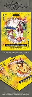 Art Flyer Poster Template PSD