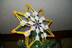 Christmas Tree Toppers To Make by How To Make A Star Of Bethlehem Christmas Tree Topper Out Of K U0027nex