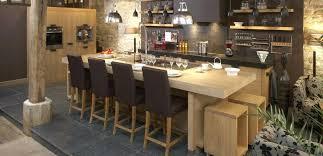 cuisine bois massif contemporaine cuisine en bois massif globr co