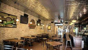 Rustic Restaurant Decor Idea Interior Brick Walls Elegant