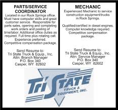 Parts/Service Coordinator - Mechanic, Tri State Truck And Equip ... 85 Best Tristate Trucks Images On Pinterest Dump Trucks Cars And Circle D Truck Bed New Used Trailers For Sale Tri Corners Crane Lifting Rigging Storage Ohio Kentucky Indiana Peterbilt Axle For Sale Vocational Sales Grow Used At State Motors Gmc Cadillac In Cedar Bus Van Custom Church Patransit Offroad Detainee Dallas Carting Western Star Rolloff Mike Flickr Pre Def 2005 F 450 Tow With 881vulcan Back Click Here For Nissan Dealership Winchester Va 22602 General Named Volvo 2016 Dealer Of The Year Red Ram Ltd Edmton Alberta Canada