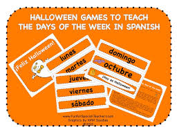 Spanish Countries That Celebrate Halloween by Halloween Calendar Set In Spanish Fun For Spanish Teachers