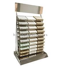 custom countertop metal wire 30 of marble tiles display racks