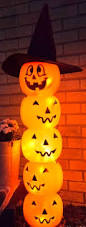 Pumpkin Guacamole Throw Up Buzzfeed by Glowing Jack O U0027 Lantern Totem Front Steps Totems And Halloween