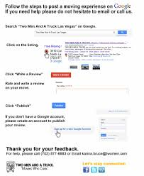 100 Two Men And A Truck Reviews Google Places Review Moving Las Vegas Blog