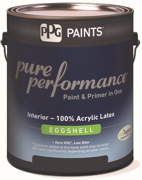 PPG Architectural Coatings 418866943 1 Quart. 9-300XI-04 Eggshell Interior Latex Pure Performance Paint, White