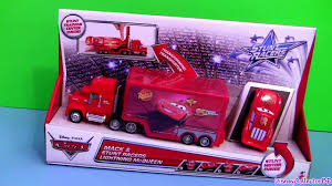 Cars 2 Stunt Racers Mack Truck Hauler With Lightning McQueen ...