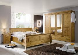 massivholz komplettes schlafzimmer komplett set kiefer honig