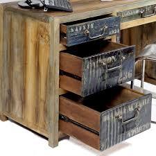 bureau bois recyclé bureau industriel pas cher meubles style industriel pas cher maison