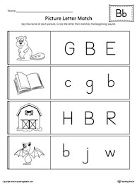 Picture Letter Match Letter B Worksheet
