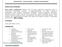 Real Estate Consultant Resume Broker With No Free Templates Rfp Executive Summary Template Response Example