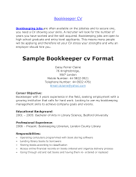 Career Objective Of Seeking Employment With Bookkeeper Resume Example And Educational Background As Bachelor Arts In Bedford University