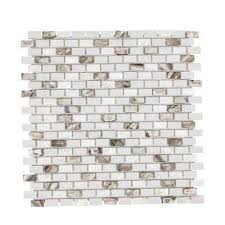 Atlantic Shell Stone Tile by Jeffrey Court Mosaic Tile Tile The Home Depot