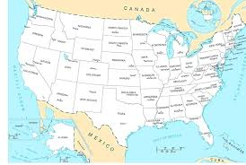 Us Map States And Capitals Of The United With State 50 Their