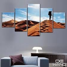 kein rahmen 5 stücke wüstenlandschaft für wohnzimmer gerahmte kunstdruck wüste kamel glocke landschaft moderne wandkunst leinwand malerei
