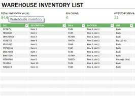 Learn Microsoft Excel Warehouse Inventory Template Free Download